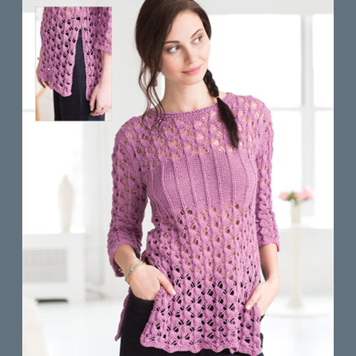 BANDED LACE PULLOVER