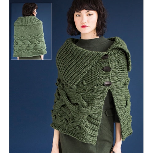 CHUNKY CABLED CAPE
