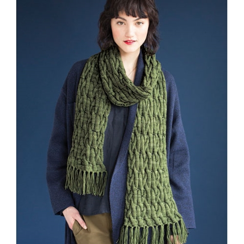 OPEN CABLE SCARF