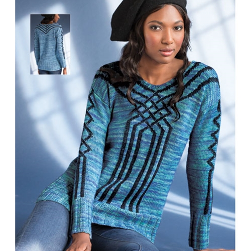 Twisted Argyle Sweater