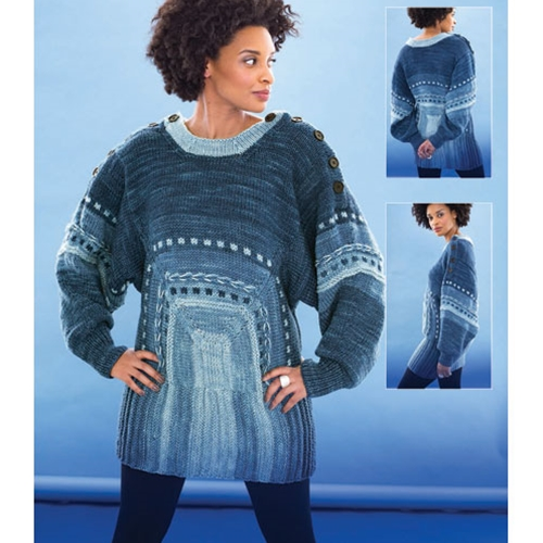 Directional Blue Pullover