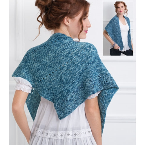 Asymmetric Leaf Shawl