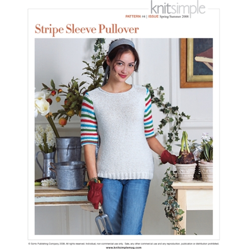 STRIPE SLEEVE PULLOVER
