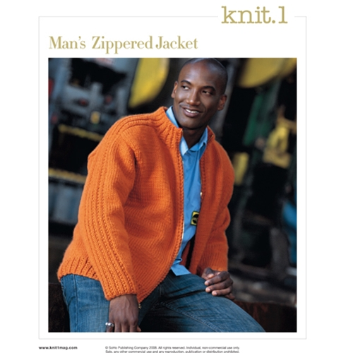 MAN'S ZIPPERED JACKET