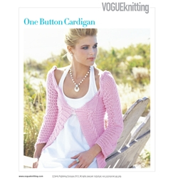 ONE BUTTON CARDIGAN