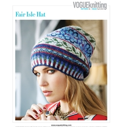 Vogue Knitting Fall 2010 #6 FAIR ISLE HAT