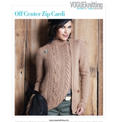 OFF CENTER ZIP CARDI