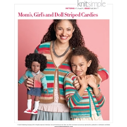MOM'S, GIRL'S & DOLL STRIPED CARDIES