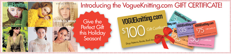 Introducing Vogue Knitting Gift Certificates
