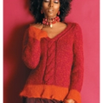 V-NECK PULLOVER Vogue Knitting Fall 2005 #11