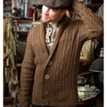 MAN'S CABLE CARDIGAN