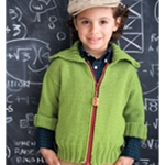 CHILD'S ZIPPERED CARDI