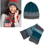 RED SCARF & HAT/TEAL SCARF & HAT