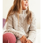 CABLE & DOUBLE MOSS STITCH SWEATER