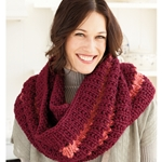 EYELET STRIPED COWL