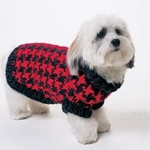 HOUNDSTOOTH DOG SWEATER