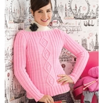 DIAMOND CABLED PULLOVER
