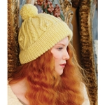 CABLED POMPOM HAT