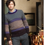 MEN'S COLOR BAND PULLOVER