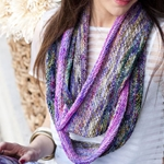 PURPLE & PINK EXTRA LONG COWL