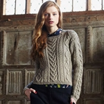 CABLE PANELLED SWEATER