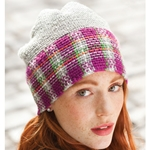 CLOCHE WITH PLAID BAND
