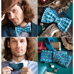 HOUNDSTOOTH & BATWING BOW TIES