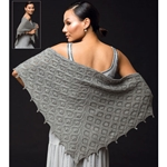 faux cable shawl