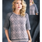 mosaic pullover
