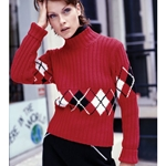 Argyle Turtleneck
