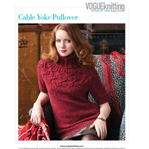 Norah Gaughan Cabled Yoke Pullover